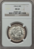 Barber Half Dollars, 1906-D 50C MS64 NGC....