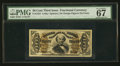 Fractional Currency:Third Issue, Fr. 1324 50¢ Third Issue Spinner PMG Superb Gem Unc 67 EPQ.. ...