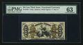 Fractional Currency:Third Issue, Fr. 1359 50¢ Third Issue Justice PMG Choice Uncirculated 63.. ...