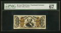 Fractional Currency:Third Issue, Fr. 1325 50¢ Third Issue Spinner PMG Superb Gem Unc 67 EPQ.. ...