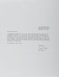 "Autographs:Authors, Anne Tyler, American Author. Typed Letter Signed ""AnneTyler"". One page, February 19, 1994. With the originaltransmitta..."