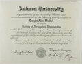 "Autographs:Statesmen, George C. Wallace, American Politician. Auburn University DiplomaSigned as Governor of Alabama ""George C. Wallace"". One..."