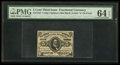 Fractional Currency:Third Issue, Fr. 1237 5¢ Third Issue PMG Choice Uncirculated 64 EPQ.. ...