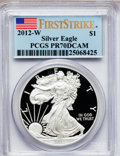 Modern Bullion Coins, 2012-W $1 One-Ounce Silver American Eagle, First Strike PR70 DeepCameo PCGS. PCGS Population (4724). NGC Census: (0). (#...