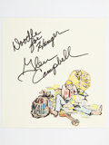 Movie/TV Memorabilia:Original Art, Glen Campbell: Musician's Doodle for Hunger. Benefitting St.Francis Food Pantries And Shelters . ...