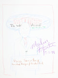 Movie/TV Memorabilia:Original Art, Marlin Fitzwater: Press Secretary's Doodle for Hunger.Benefitting St. Francis Food Pantries And Shelters . ...