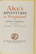 Books:Children's Books, Lewis Carroll. Alice's Adventures in Wonderland. TheHeritage Illustrated Bookshelf, 1941. First edition thus. I...