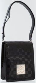 Luxury Accessories:Bags, Louis Vuitton Black Damier Vernis Leather Club Shoulder Bag. ...