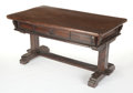 Furniture , AN ITALIAN RENAISSANCE-STYLE WALNUT TABLE. 16th century (in part). 63 inches x 35 inches x 32-1/2 inches (160.0 x 88.9 x 82....