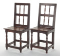 Furniture , A PAIR OF FRENCH SIDE CHAIRS. 19th century. 37 x 17 x 14 inches (94.0 x 43.2 x 35.6 cm). The Elton M. Hyder, Jr. Charitabl... (Total: 2 Items)