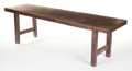 Furniture , AN OAK TABLE. 19th century. 29 x 96-1/2 x 26 inches (73.7 x 245.1 x 66.0 cm). The Elton M. Hyder, Jr. Charitable and Educa...
