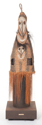 AN OCEANIC BASKETRY MASK 20th century 91 x 24 inches (231.1 x 61.0 cm)  The Elton M. Hyder, Jr. Charitabl