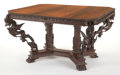 Furniture , A BURMESE CARVED ROSEWOOD TABLE. 19th century. 44-1/4 x 50-1/4 x 29-1/2 inches (112.4 x 127.6 x 74.9 cm). The Elton M. Hyd...