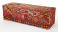 Furniture , A KILIM COVERED BENCH. 20th century. 24-1/2 inches x 77 inches x 24-1/2 inches (62.2 x 195.6 x 62.2 cm). The Elton M. Hyde...