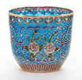 Decorative Arts, French:Other , A FRENCH PLIQUE À JOUR CUP . Circa 1900. 2-3/8 inches high (5.9cm). ...