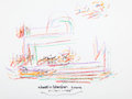 Movie/TV Memorabilia:Original Art, Richard Meier: Architect's Doodle for Hunger. Benefitting St. Francis Food Pantries And Shelters . ...