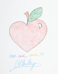 Movie/TV Memorabilia:Original Art, Carson Kressley: Fashion Expert's Doodle for Hunger. Benefitting St. Francis Food Pantries And Shelters . ...