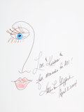 Movie/TV Memorabilia:Original Art, Kathie Lee Gifford: Television Host's Doodle for Hunger. Benefitting St. Francis Food Pantries And Shelters . ...