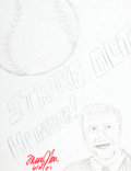 Movie/TV Memorabilia:Autographs and Signed Items, Tommy John: Baseball Player's Doodle for Hunger. BenefittingSt. Francis Food Pantries & Shelters. ...