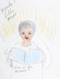 Movie/TV Memorabilia:Original Art, Marla Gibbs: Actor's Doodle for Hunger. Benefitting St.Francis Food Pantries And Shelters . ...