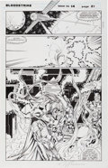 Original Comic Art:Panel Pages, Karl Altstaetter and Norm Rapmund Bloodstrike #14 Page 21 Original Art (Image, 1994)....