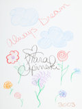 Movie/TV Memorabilia:Original Art, Tara Lipinski: Figure Skater's Doodle for Hunger.Benefitting St. Francis Food Pantries And Shelters . ...