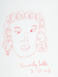 Movie/TV Memorabilia:Original Art, Beverly Sills: Opera Singer's Doodle for Hunger. BenefittingSt. Francis Food Pantries And Shelters . ...