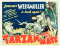 "Movie Posters:Adventure, Tarzan and His Mate (MGM, 1934). Half Sheet (22"" X 28"").. ..."