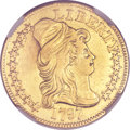 Early Half Eagles, 1797 $5 Small Eagle, 15 Stars -- Repaired -- NGC Details. AU. BD-2,R.7....