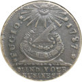 Colonials, 1787 1C Fugio Cent, Club Rays, Rounded Ends AU50 NGC. N. 4-E,W-6685, R.3....