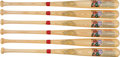 Baseball Collectibles:Bats, 1988 Hall of Fame 50th Anniversary Cooperstown Bat Company Bat - Lot of 6. ...