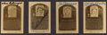 Autographs:Sports Cards, 1983 Hall of Fame Signed Baseball Card - Lot of 4 With Mantle,Gehringer, Williams and DiMaggio. ...