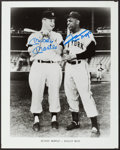 Baseball Collectibles:Photos, Mickey Mantle and Willie Mays Signed Photograph. ...