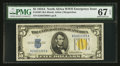 Small Size:World War II Emergency Notes, Fr. 2307 $5 1934A North Africa Silver Certificate. PMG Superb GemUnc 67 EPQ.. ...