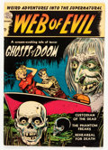 Golden Age (1938-1955):Horror, Web of Evil #1 (Quality, 1952) Condition: VG/FN....