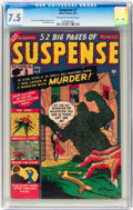 Golden Age (1938-1955):Horror, Suspense #7 (Atlas, 1951) CGC VF- 7.5 Off-white to white pages....