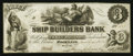 Obsoletes By State:Maine, Rockland, ME- Ship Builders Bank $3 Mar. 21, 1854 G6 Wait 38. ...