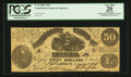 Confederate Notes:1861 Issues, T14 $50 1861 PF-3 Cr. 64.. ...