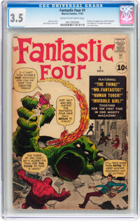 Fantastic Four #1 (Marvel, 1961) CGC VG- 3.5 Cream to off-white pages