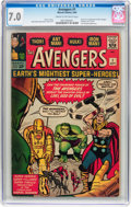 Silver Age (1956-1969):Superhero, The Avengers #1 (Marvel, 1963) CGC FN/VF 7.0 Cream to off-whitepages....