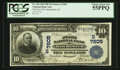 National Bank Notes:Kentucky, Manchester, KY - $10 1902 Plain Back Fr. 624 The First NB Ch. #(S)7605. ...