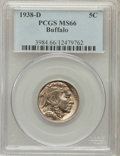 Buffalo Nickels: , 1938-D 5C MS66 PCGS. PCGS Population (28118/1595). NGC Census:(19695/1957). Mintage: 7,020,000. Numismedia Wsl. Price for ...