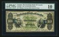Canadian Currency: , Montreal, PQ- The Exchange Bank of Canada $10 Oct. 1, 1872 Ch #245-10-08a. ...