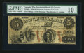 Canadian Currency: , Stanstead, PC- The Provincial Bank of Canada $5 April 1, 1856 Ch #610-10-06. ...