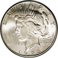 Peace Dollars: , 1926-S $1 MS66 PCGS. Unlike the four San Francisco issues thatpreceded it, the 1926-S is oft...