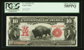Large Size:Legal Tender Notes, Fr. 114 $10 1901 Legal Tender PCGS Choice About New 58PPQ.. ...