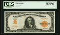 Large Size:Gold Certificates, Fr. 1167 $10 1907 Gold Certificate PCGS Choice About New 58PPQ.....