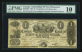 Canadian Currency: , Fredericton, NB- Central Bank of New Brunswick £1 Oct. 1, 1857 Ch #95-10-10-04. ...