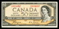 Canadian Currency: , BC-34a $50 1954 Devil's Face. ...