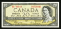 Canadian Currency: , BC-33a $20 1954 Devils' Face. ...